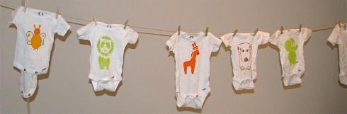 DYI Animal Onesies