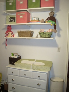 nursery decorating DIY painted dresser changing table